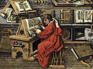 medieval scholar at work 1